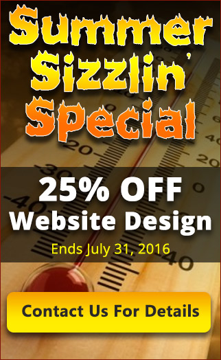 25 percent of Website Design Special